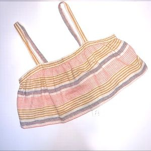New Kaisely Striped Combo Crop Tank Top Size M